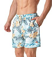 Tommy Bahama Naples Camo Tiles Full Elastic 6 Inch Swim Short TR915702