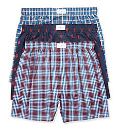 Tommy Hilfiger Cotton Classics Woven Boxers - 3 Pack 09TV063