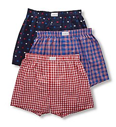 Tommy Hilfiger Cotton Classics Woven Boxers - 3 Pack 09TV095